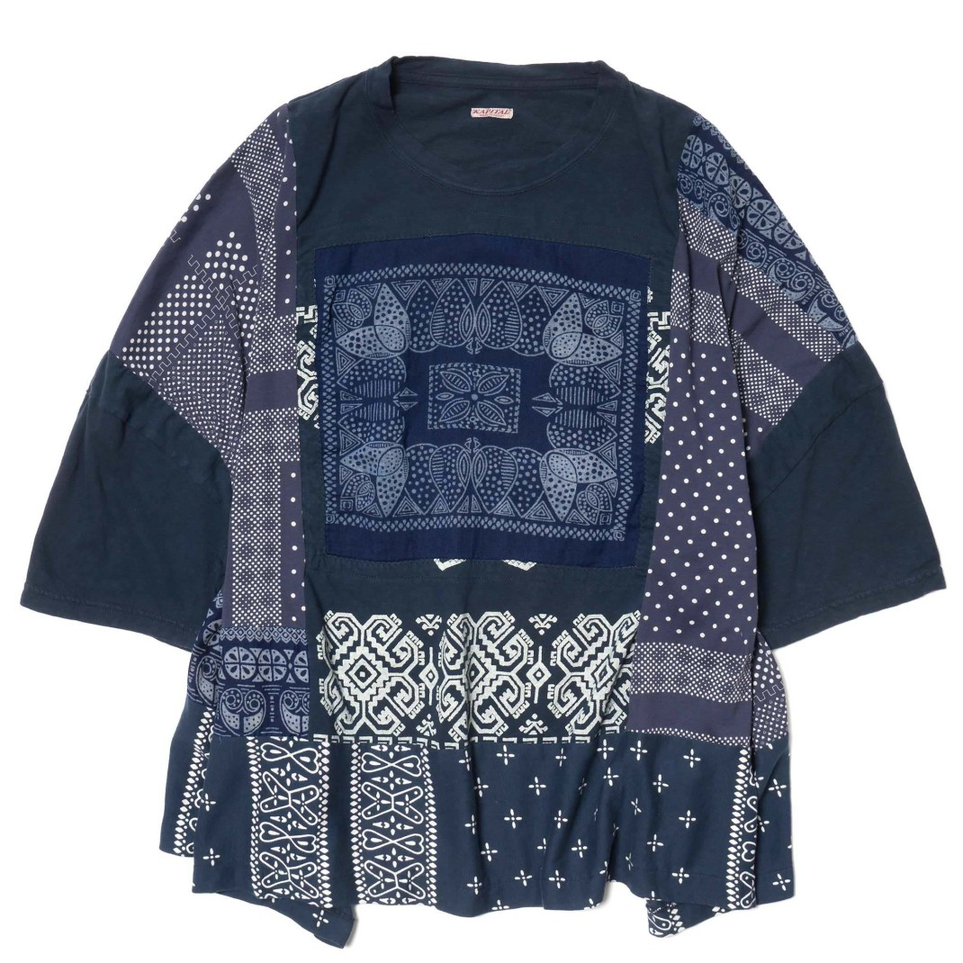 KAPTIAL-KOUNTRY-Tenjiku-Bandana-Remake-Big-Tee-Navy-1_2048x2048
