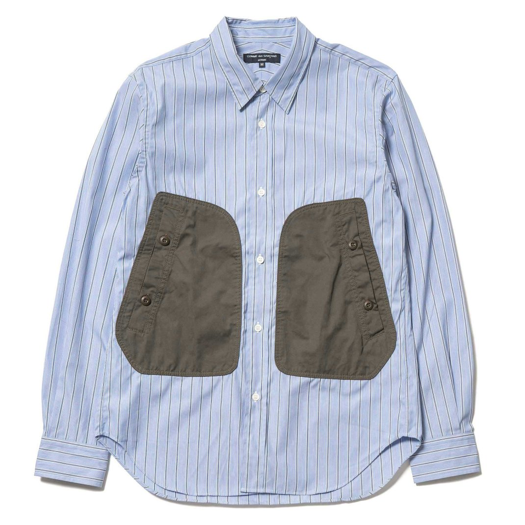 Comme-des-Garcons-HOMME-Cotton-Broad-Strip-Cotton-Polyester-Canvas-Shirt-Blue-White-Khaki-1_2048x2048